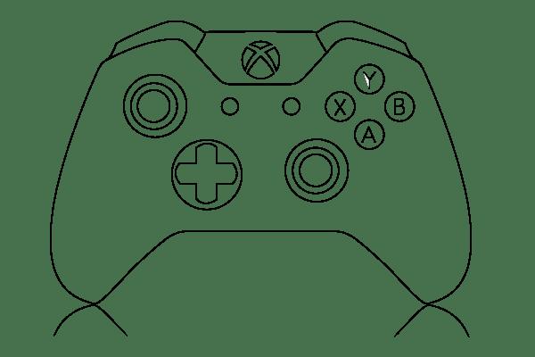 xbox 360 controller diagram clipart best
