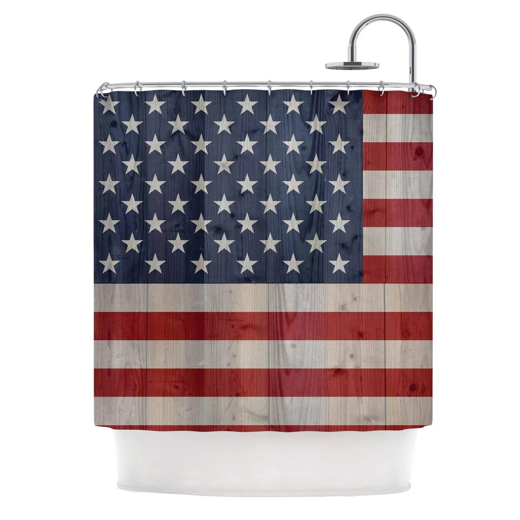 Usa Shower Curtain Usa Flag On Spruce Shower Curtain By Bruce Stanfield Kess Inhouse