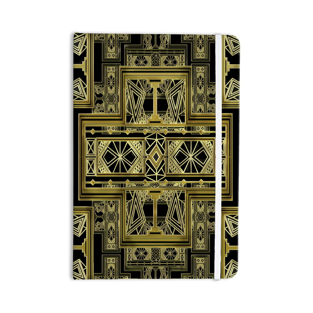 Art Deco Style Notebook Golden Art Deco Notebook By Nika Martinez Kess Inhouse