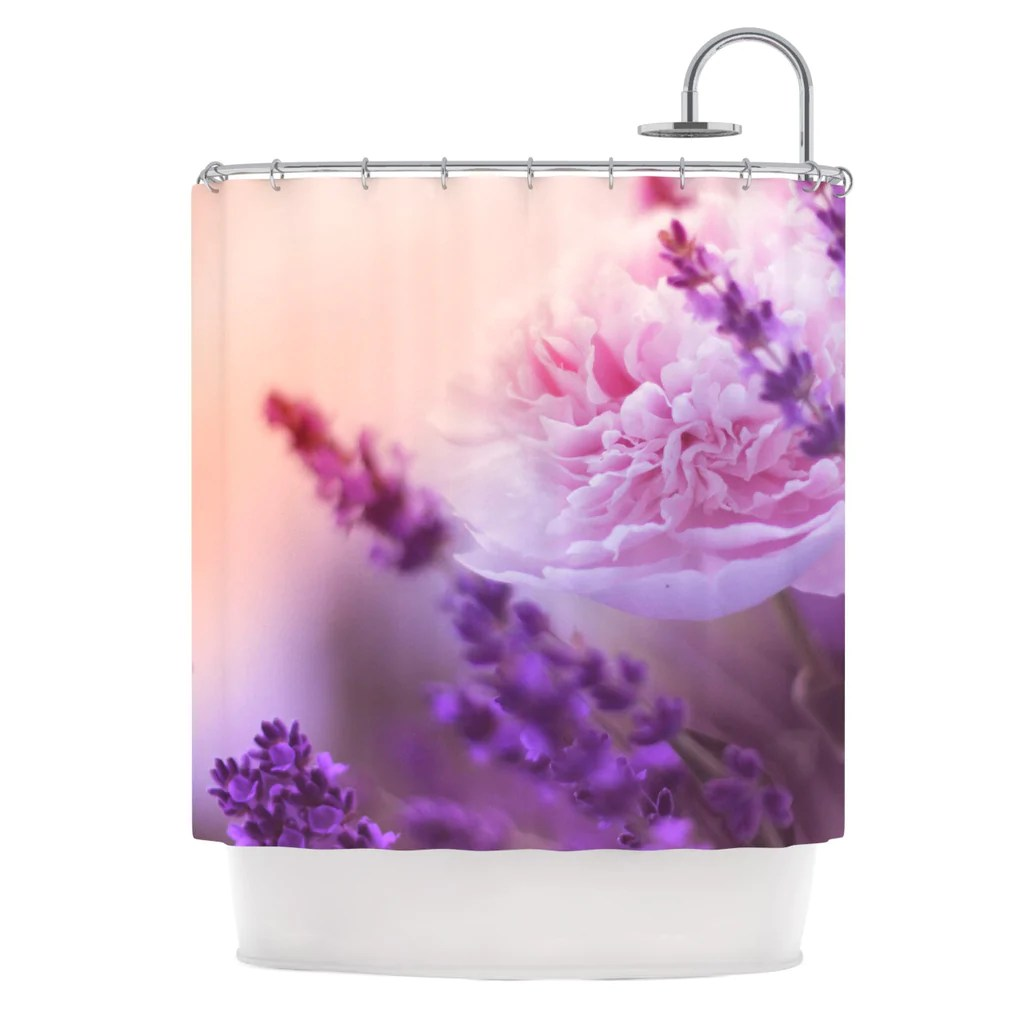 Lavender Shower Curtains Peony And Lavender Shower Curtain By Monika Strigel Kess Inhouse