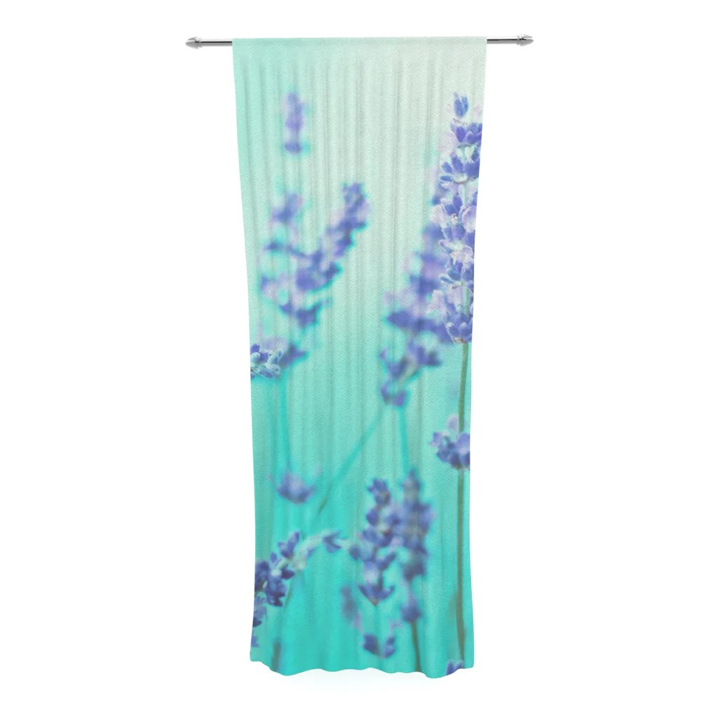 Lavender Sheer Curtains Mint Lavender Sheer Curtain By Monika Strigel Kess Inhouse