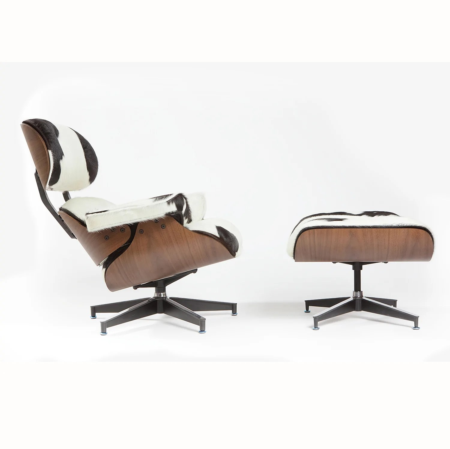 Charles Eames Lounge Chair Charles Eames Lounge Chair - Holstein Black & White - Homelosophy – Homelosophy