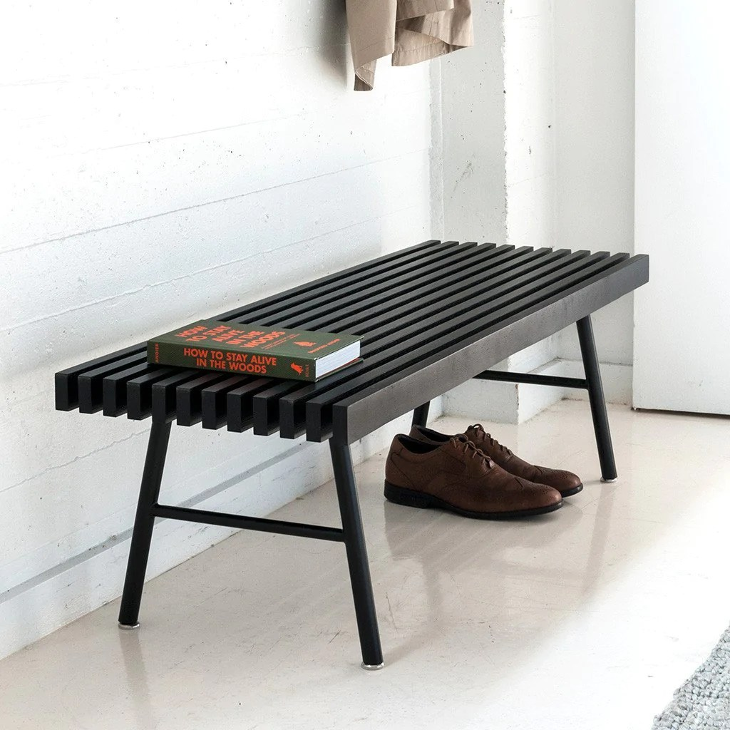 Black Bench Transit Bench Accent Tables Gus Modern