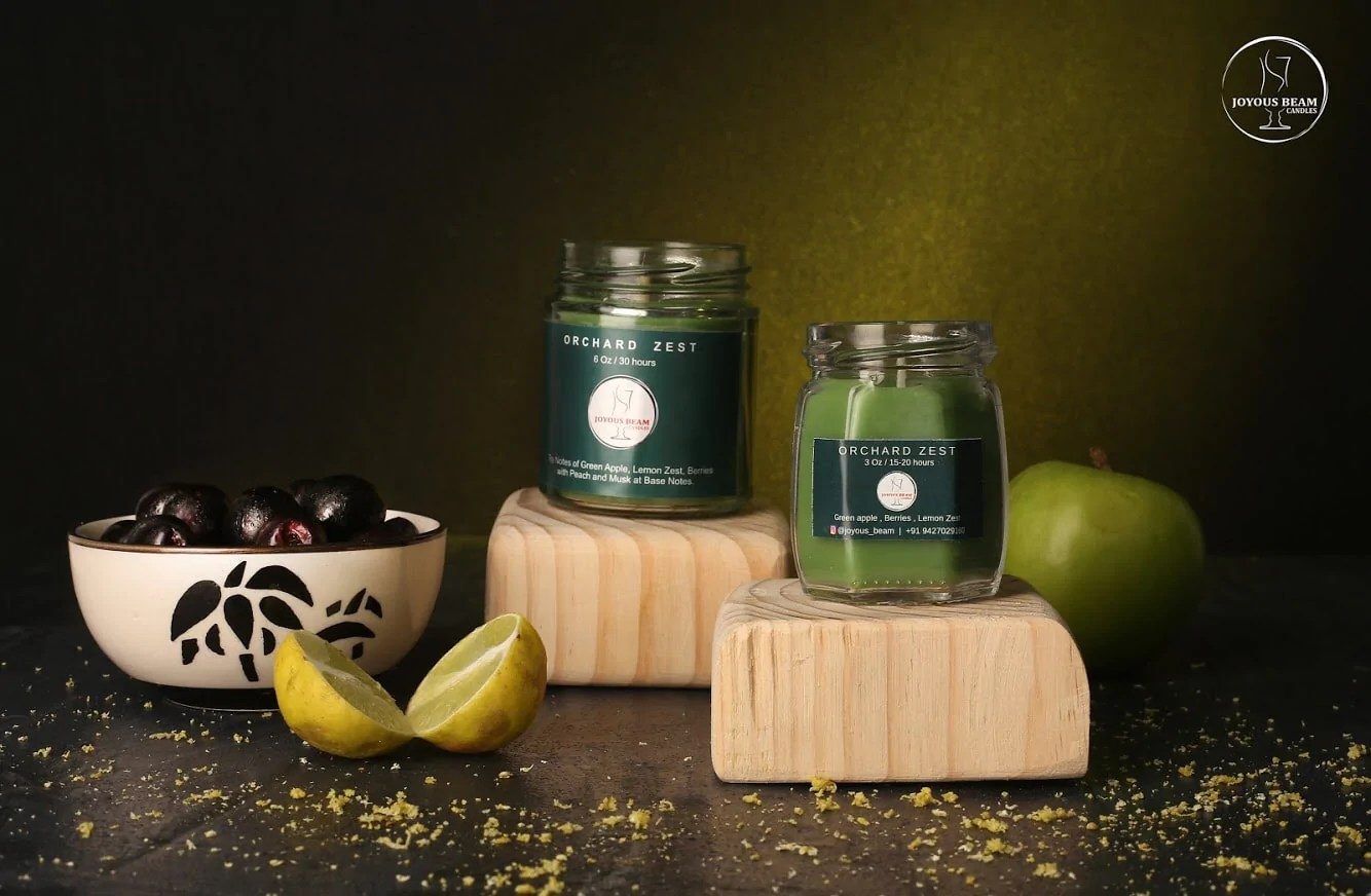 Buy Candles Online Apple Green Scented Candle Buy Candles Online Joyous Beam Candles