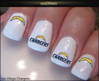 San Diego Chargers Nail Decal by NAILTHINS  NAILTHINS