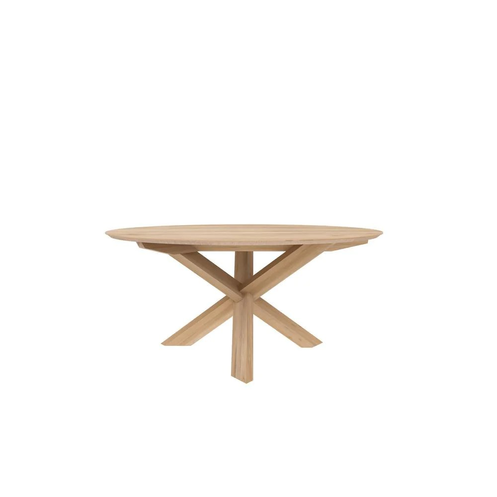 Round Oak Dining Table Ethnicraft Oak Round Dining Table