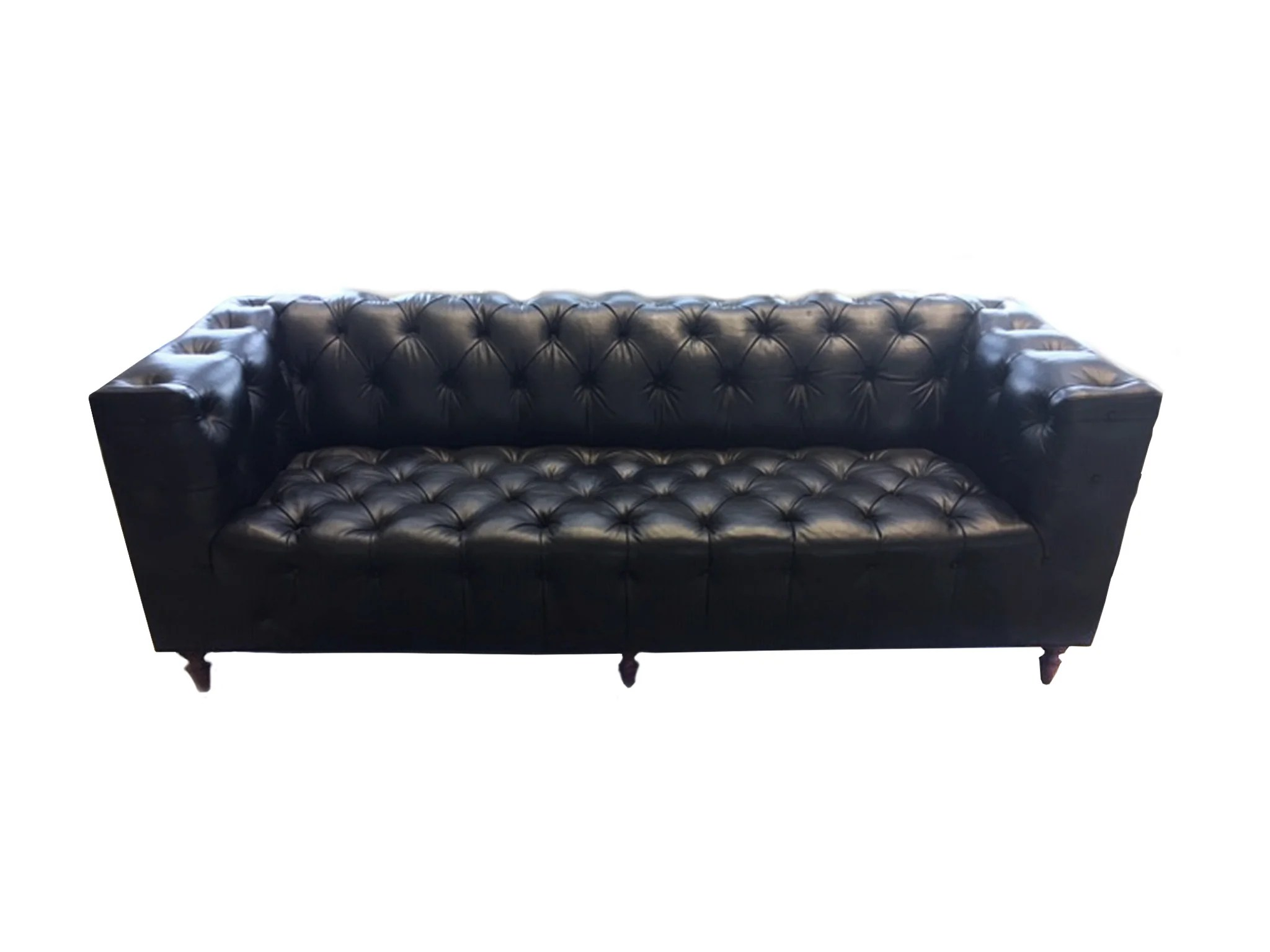 Chesterfield Sofa 1960s Leather Chesterfield Sofa In The Style Of Edward Wormley