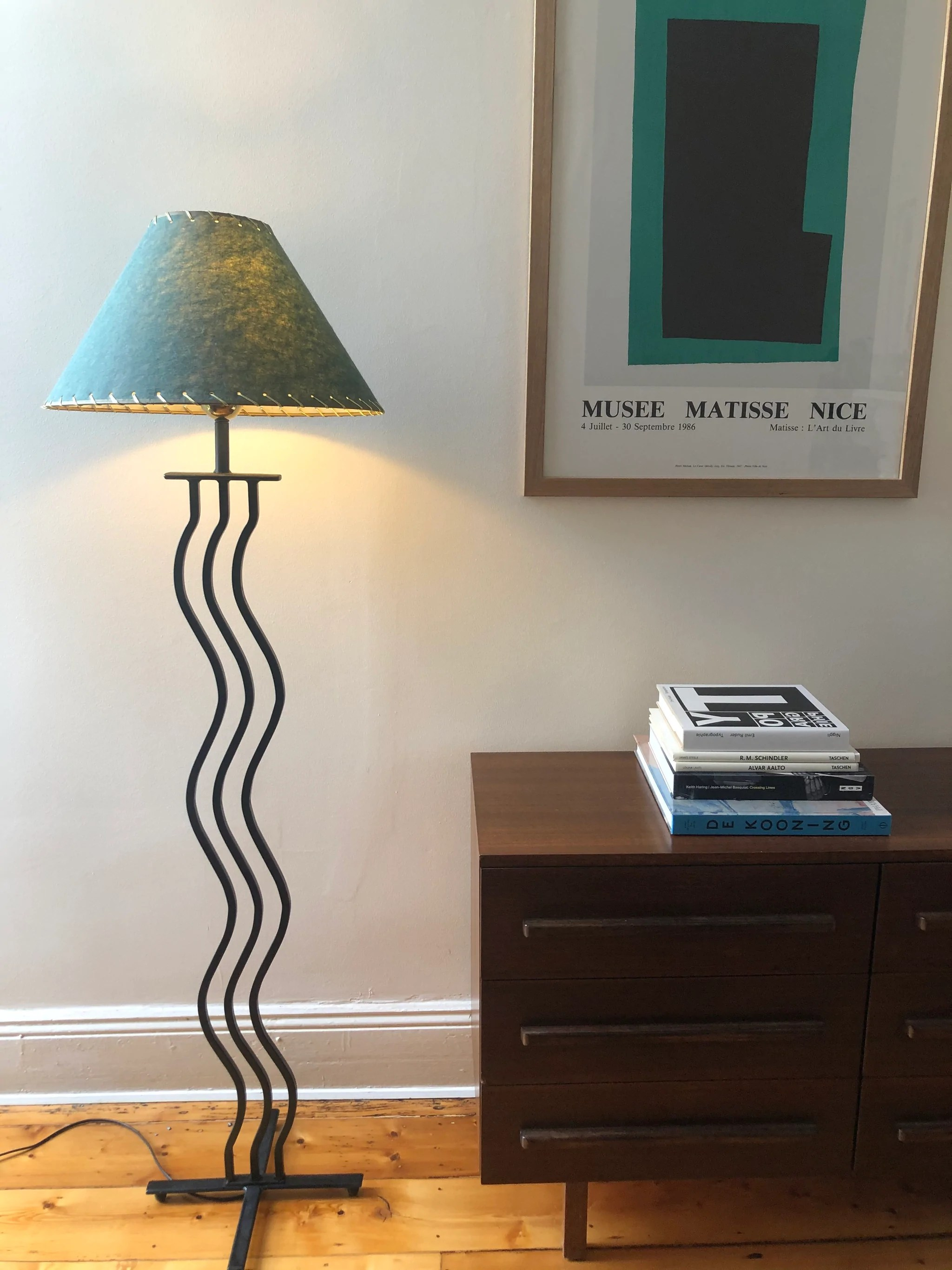 80s Squiggle Floor Lamp Curated Spaces