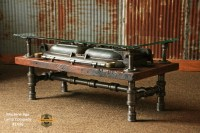 Steampunk Antique Industrial / Coffee Table / Barn Wood