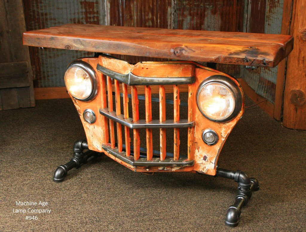 Copy Of Steampunk Industrial Table Jeep Willys Console
