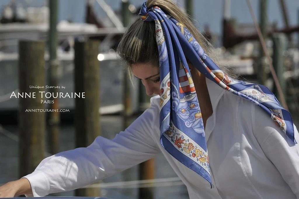 Lookbook French Silk Scarves Anne Touraine Paris