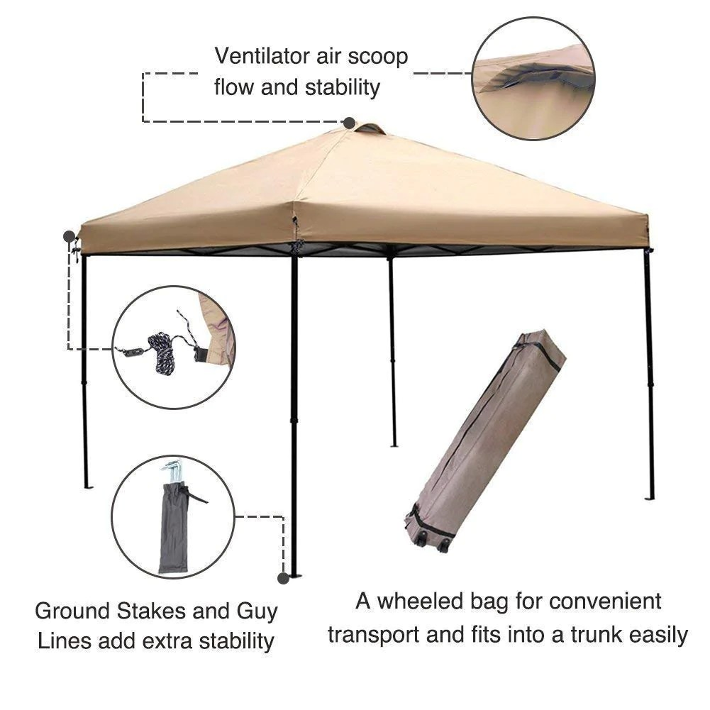 Pop Up Canopy Abba Patio 10 X 10 Ft Outdoor Pop Up Canopy Portable Folding Canopy Instant Shelter With Roller Bag