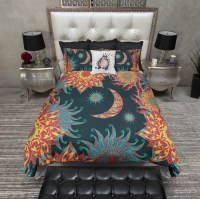 Bohemian Fire Sun and Moon Bedding - Ink and Rags