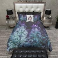 Purple Cannabis Marijuana Bedding - Ink and Rags