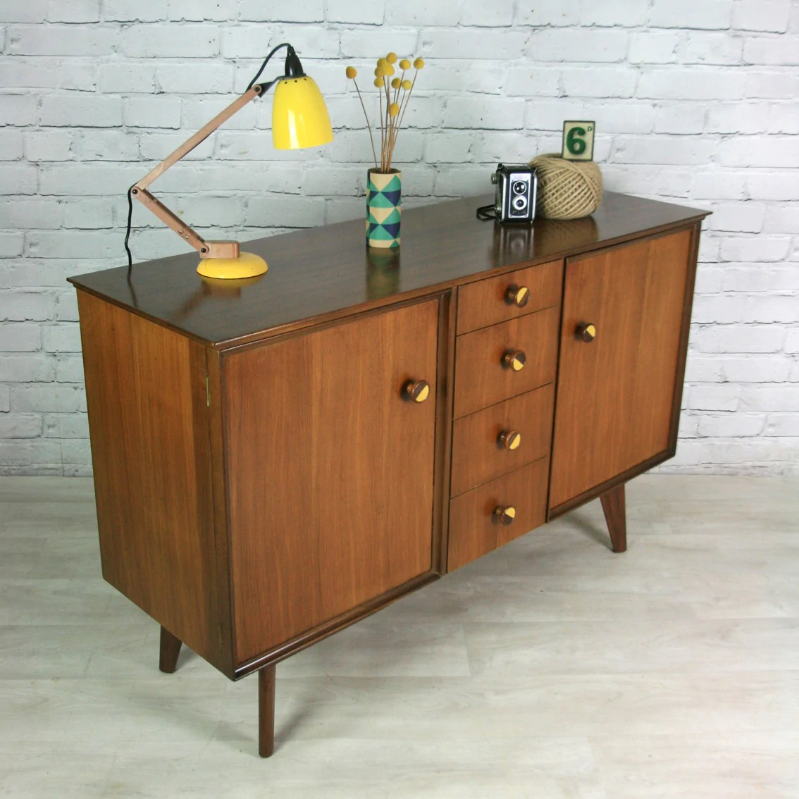 Vintage Sideboard For Sale Uk Vintage 1950s Upcycled Mustard Vintage Sideboard