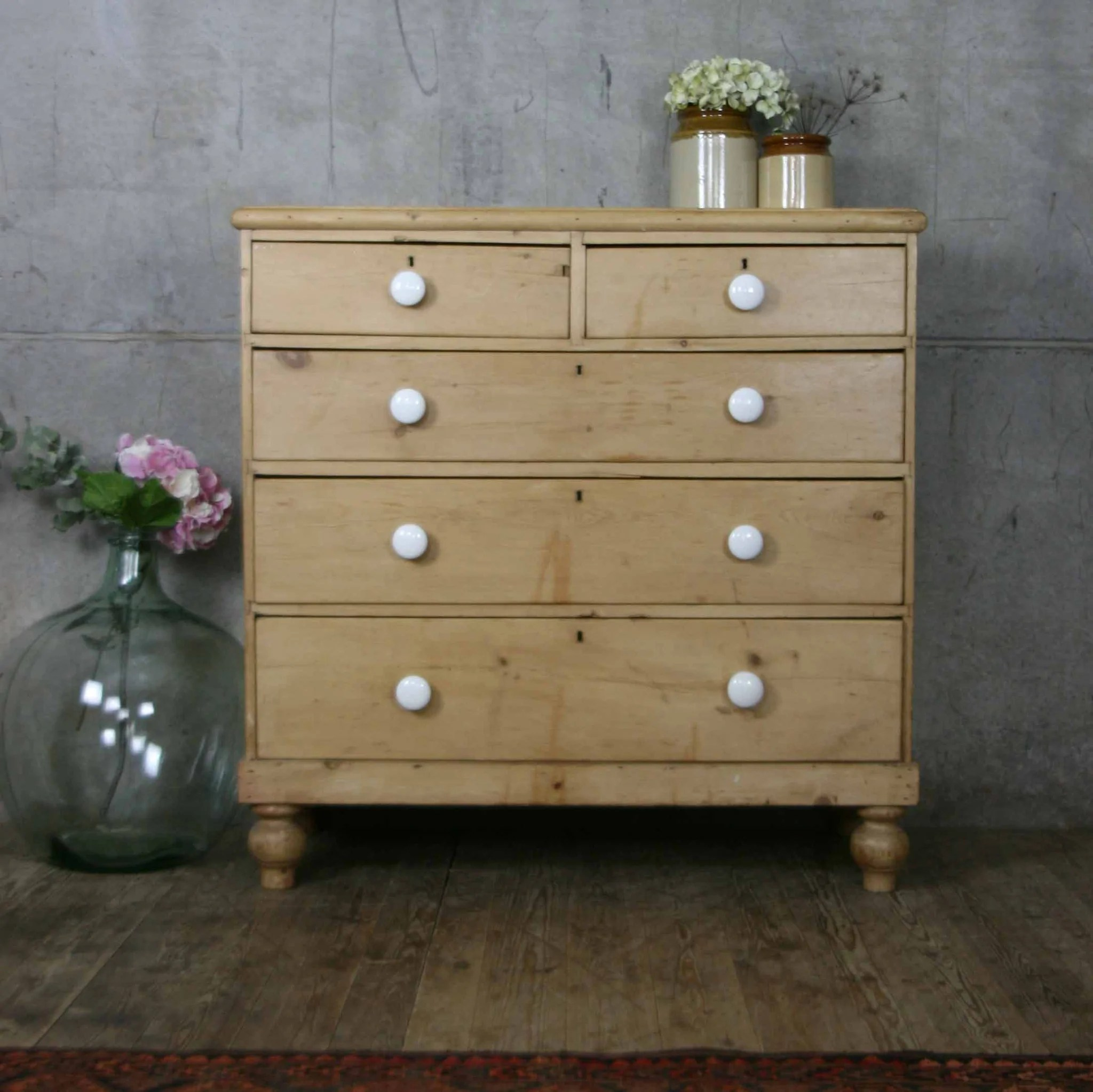Victorian Pine Chest Of Drawers Large Victorian Rustic Pine Chest Of Drawers Mustard Vintage