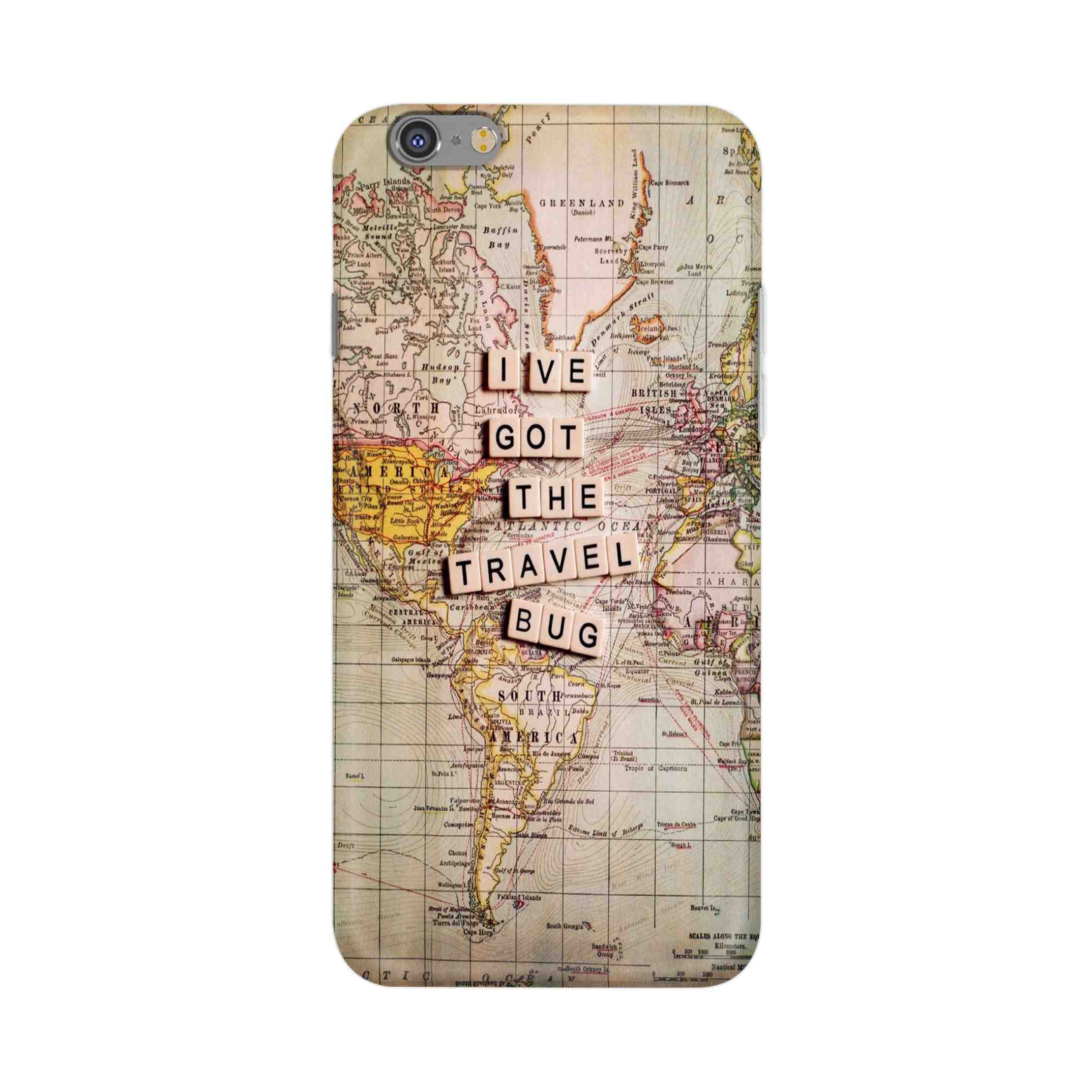 Travel Blog With Map Map Travel Blog Printed Case For Apple Iphone 6 Plus 6s Plus