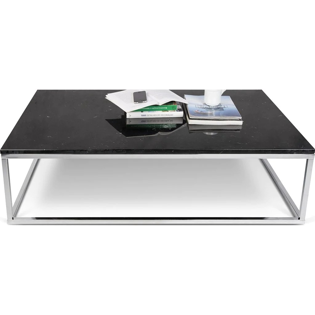 Prairie Couchtisch Temahome Prairie 47x30 Marble Coffee Table Black Marble