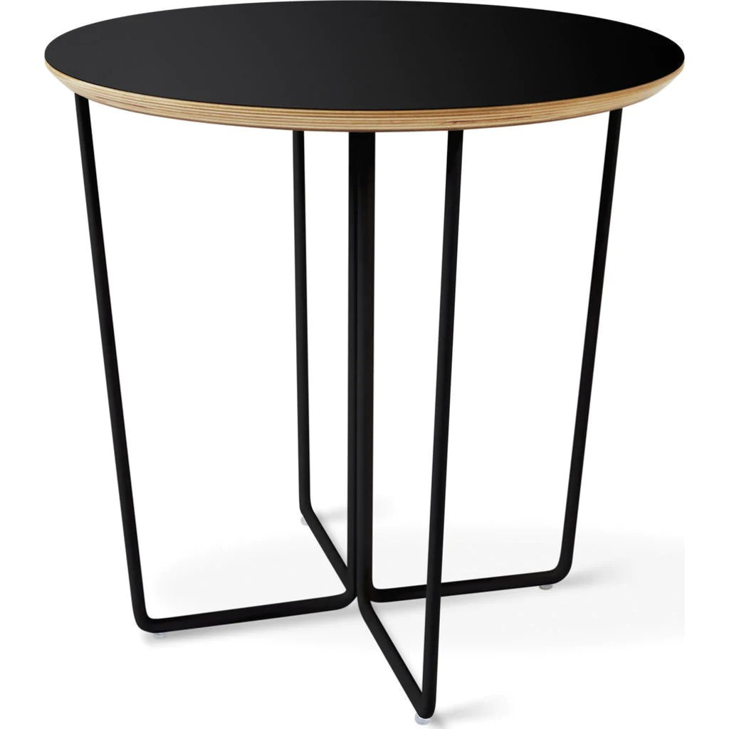 Black Modern Side Table Gus Modern Array Round End Table Black Sportique