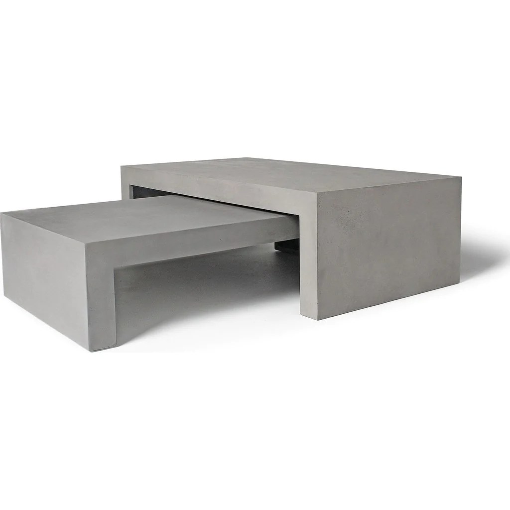 Table Basse En Beton Lyon Beton Dawn Rectangular Low Coffee Table Concrete