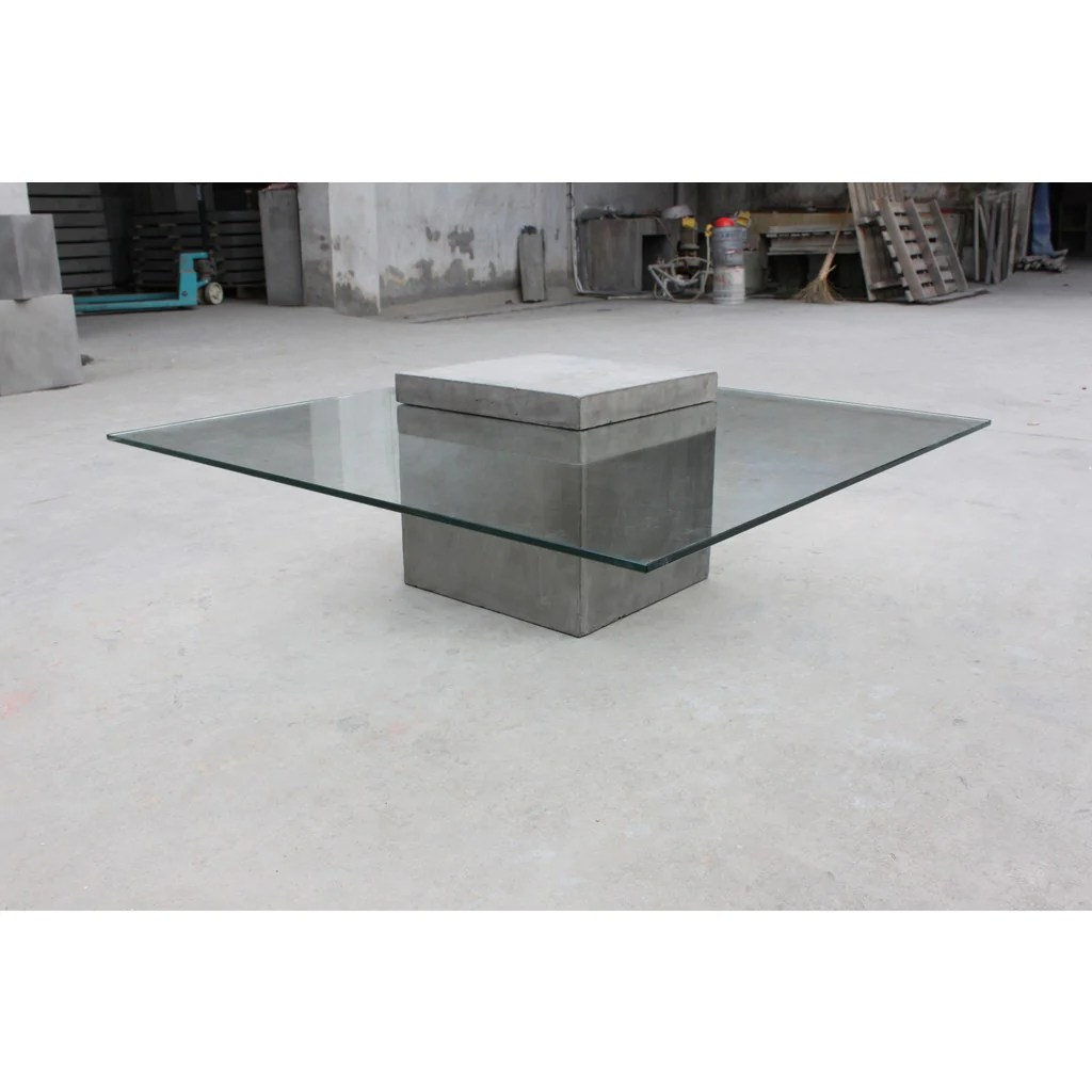 Table Basse En Beton Lyon Beton Verveine Square Coffee Table Concrete
