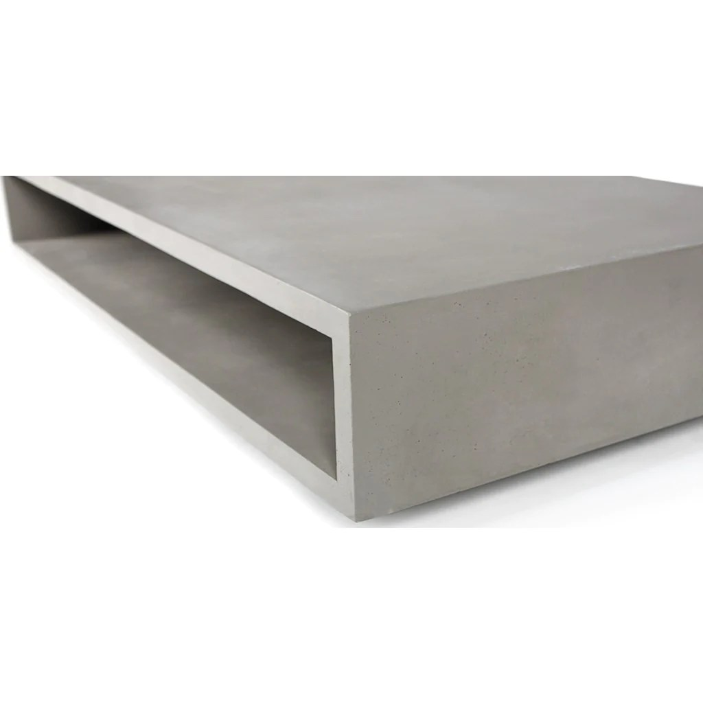 Table Basse En Beton Lyon Beton Monobloc Xl Rectangular Coffee Table Concrete
