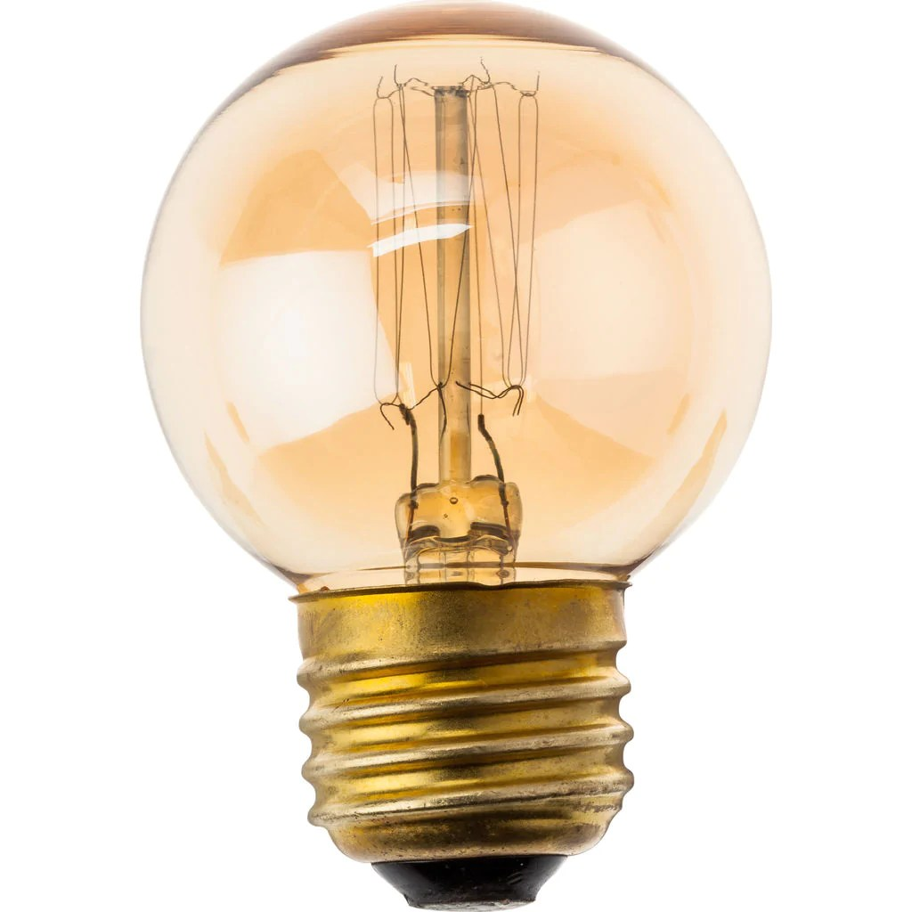 60w Light Bulb Nuevo Living T45 12 Anchors 60w E Light Bulb Gold Glass