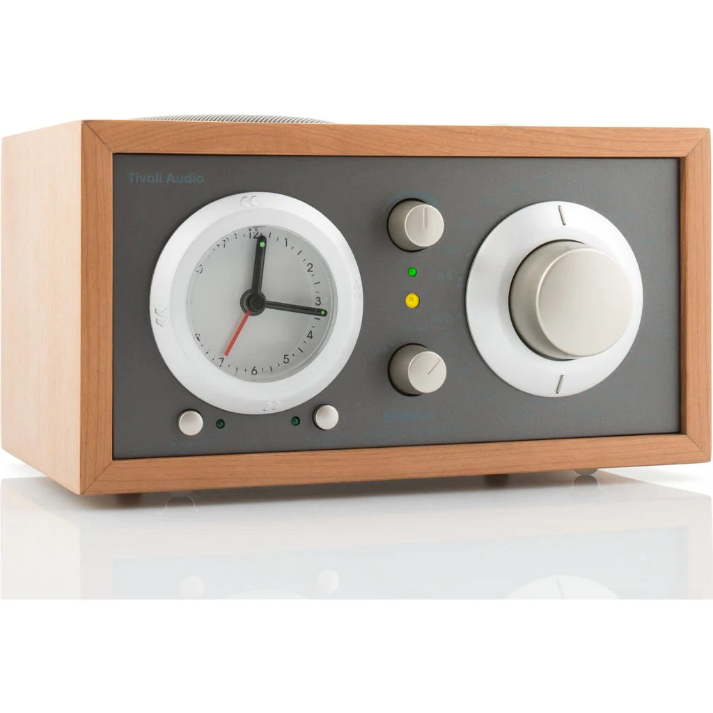 Tivoli Audio Yellow Tivoli Audio Model Three Bluetooth Speaker Clock Radio Taupe