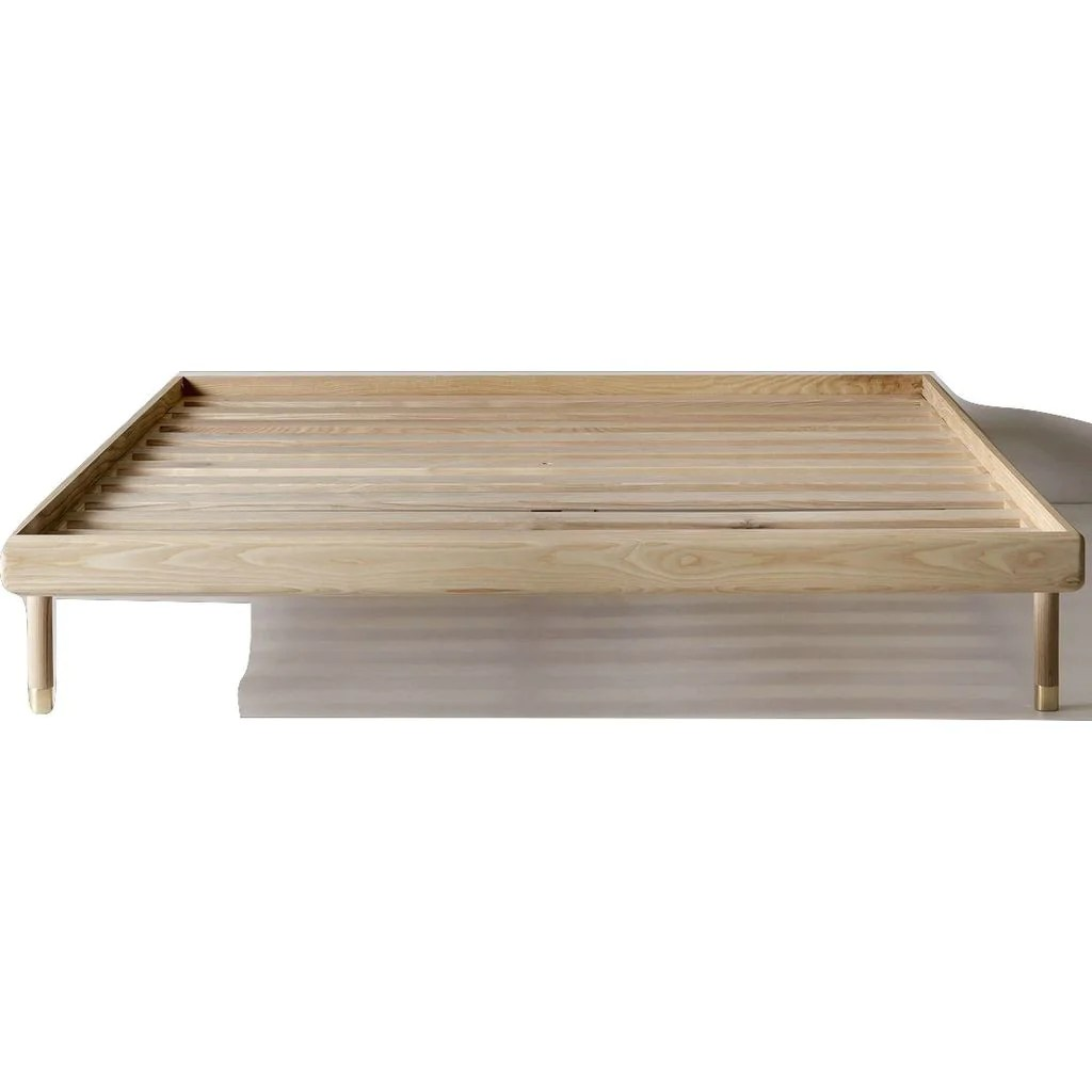 Simple Bed Kalon Simple Wood Bed Frame Ash