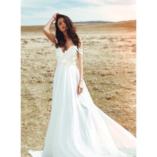 Medium Crop Of A Line Wedding Dress