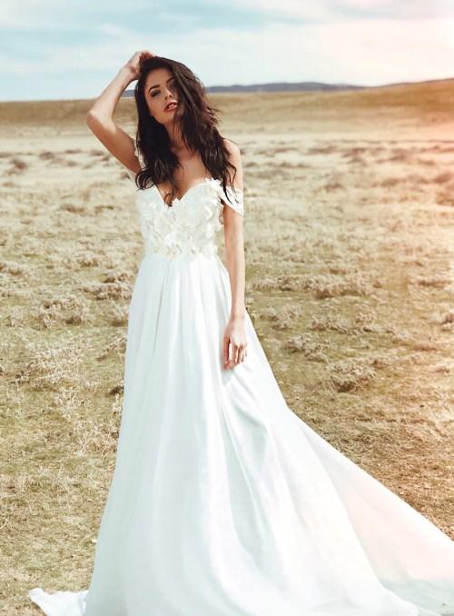 Medium Of A Line Wedding Dress