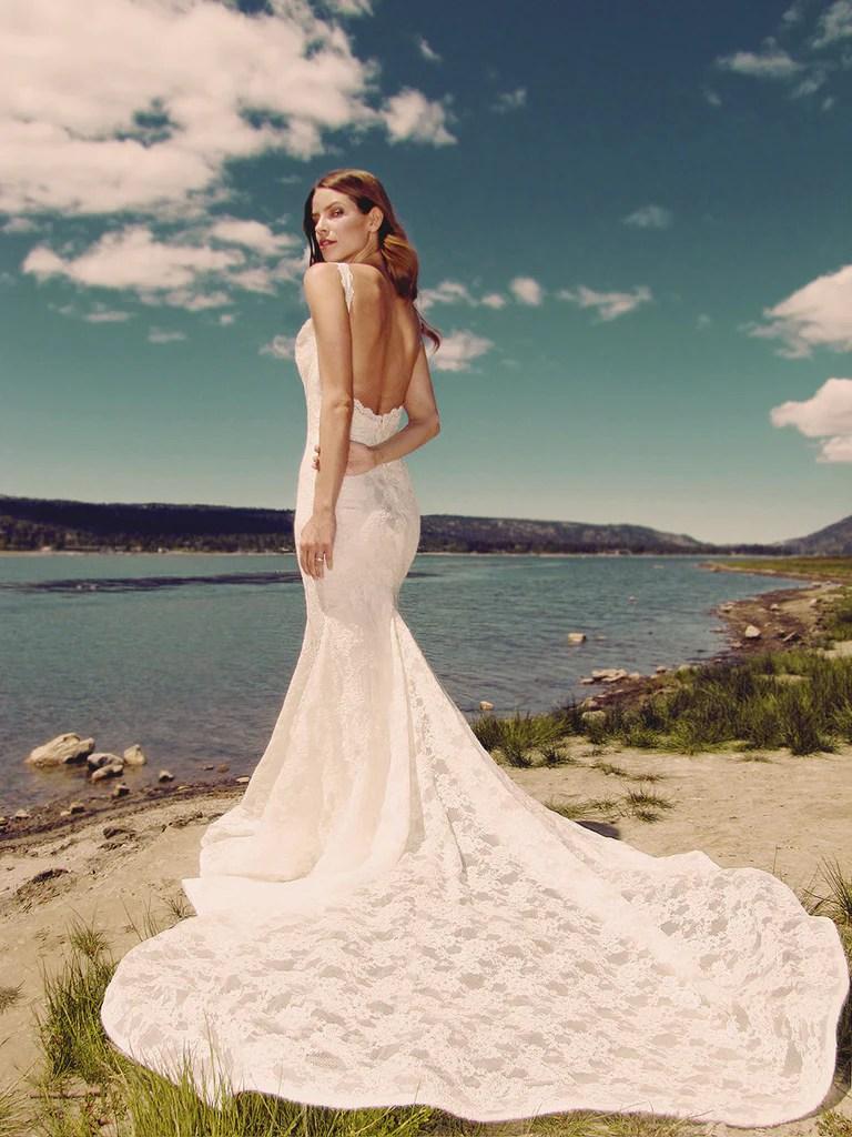 verona mermaid wedding gowns Backless lace mermaid wedding gown by Lauren Elaine Bridal