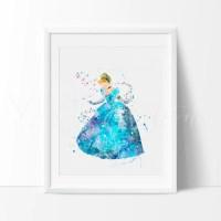 Cinderella Disney Princess Nursery Art Print Wall Decor ...