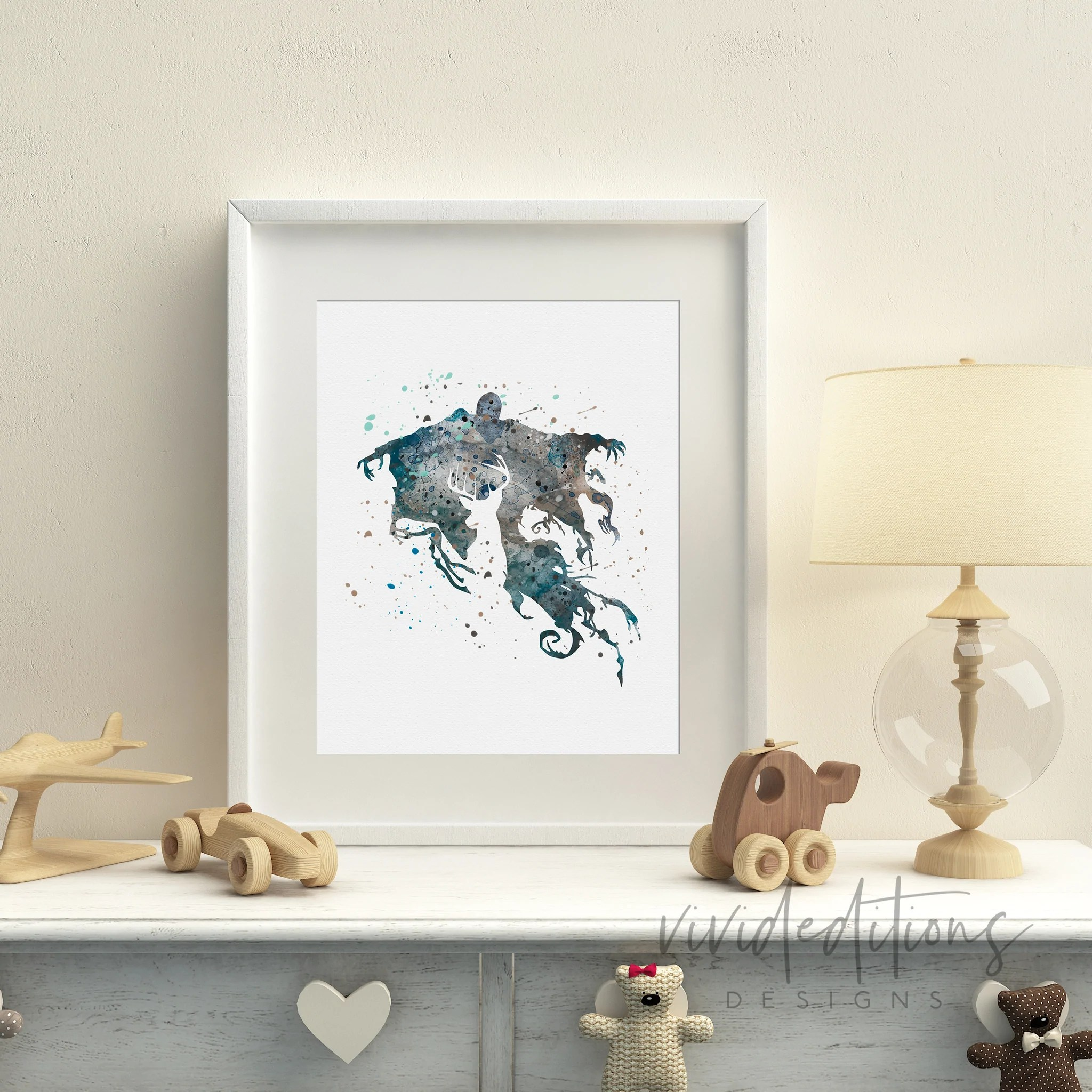 Harry Potter Wohnzimmer Dementor Harry Potter Watercolor Art Print