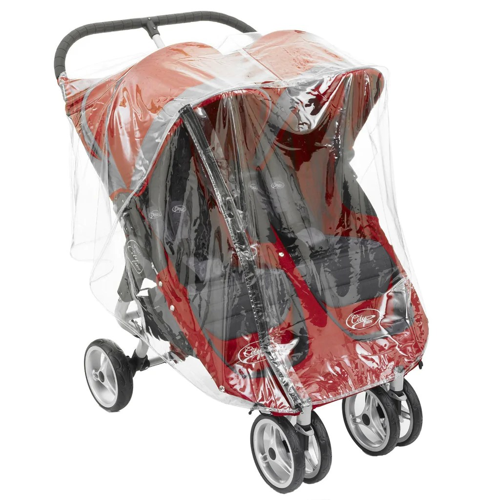 Double Stroller Rain Cover Raincover For Baby Jogger City Elite Classic Twin