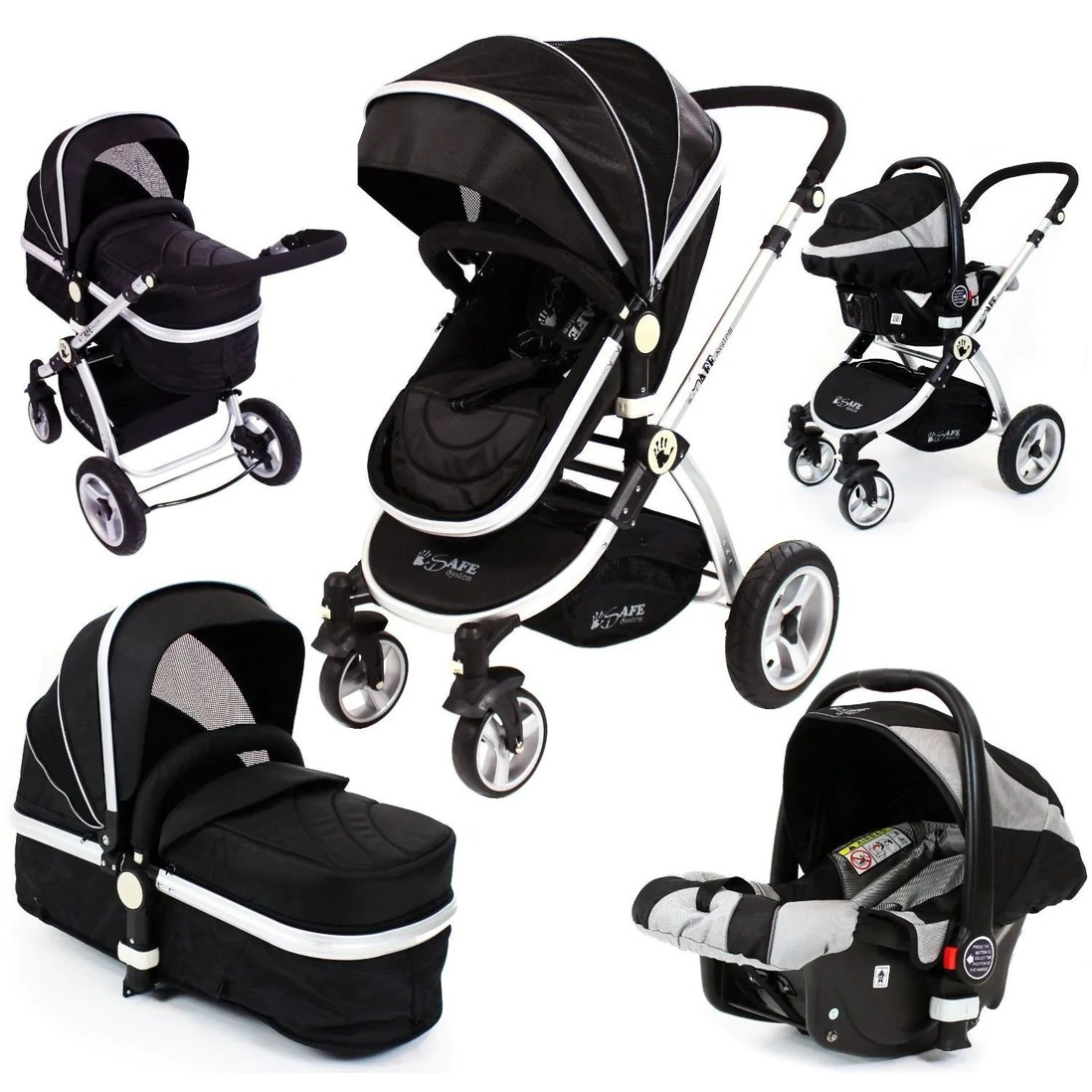 Baby Prams For Sale Uk Isafe 3 In 1 Black With Car Seat Travel System Pram Options