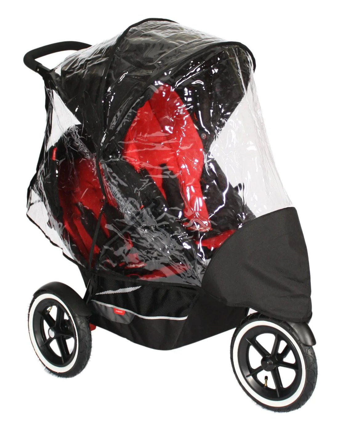 Phil And Teds Double Buggy Vibe Raincover For Phil Teds Explorer Double