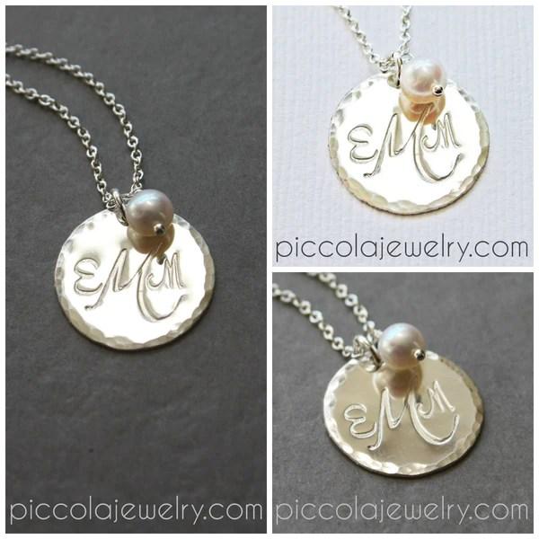 monogram necklace canada