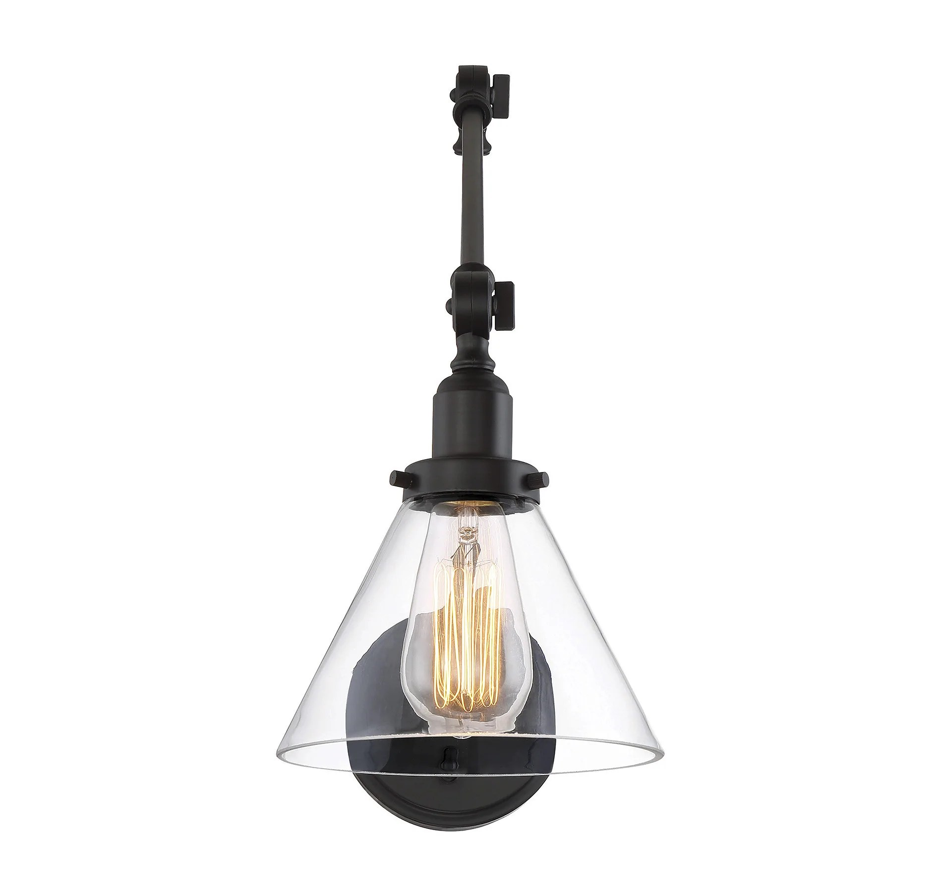 Industrial Swing Arm Lighting Drake Swing Arm Sconce By Savoy House Lighting Connection