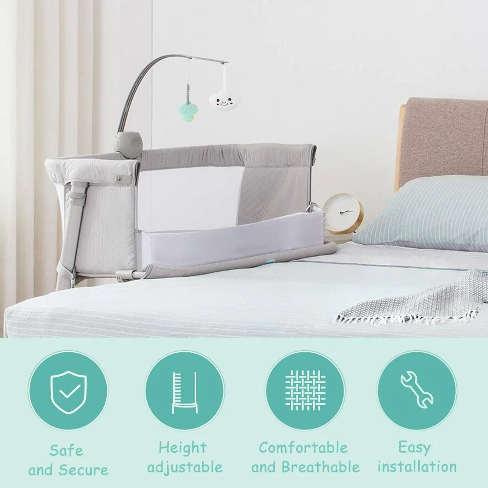 Baby Bassinet Linen Bedside Sleeper For Baby Kidsclub Baby Bassinet For New Born Standalone Bassinet Side Sleeper For Infants Baby Bed 2 Replaceable Mattress 9