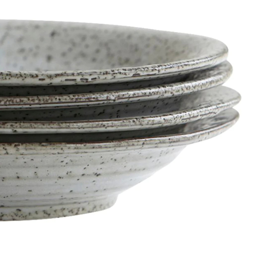 House Doctor Rustic Bowl Soup Rustic Grey 25cm By House Doctor