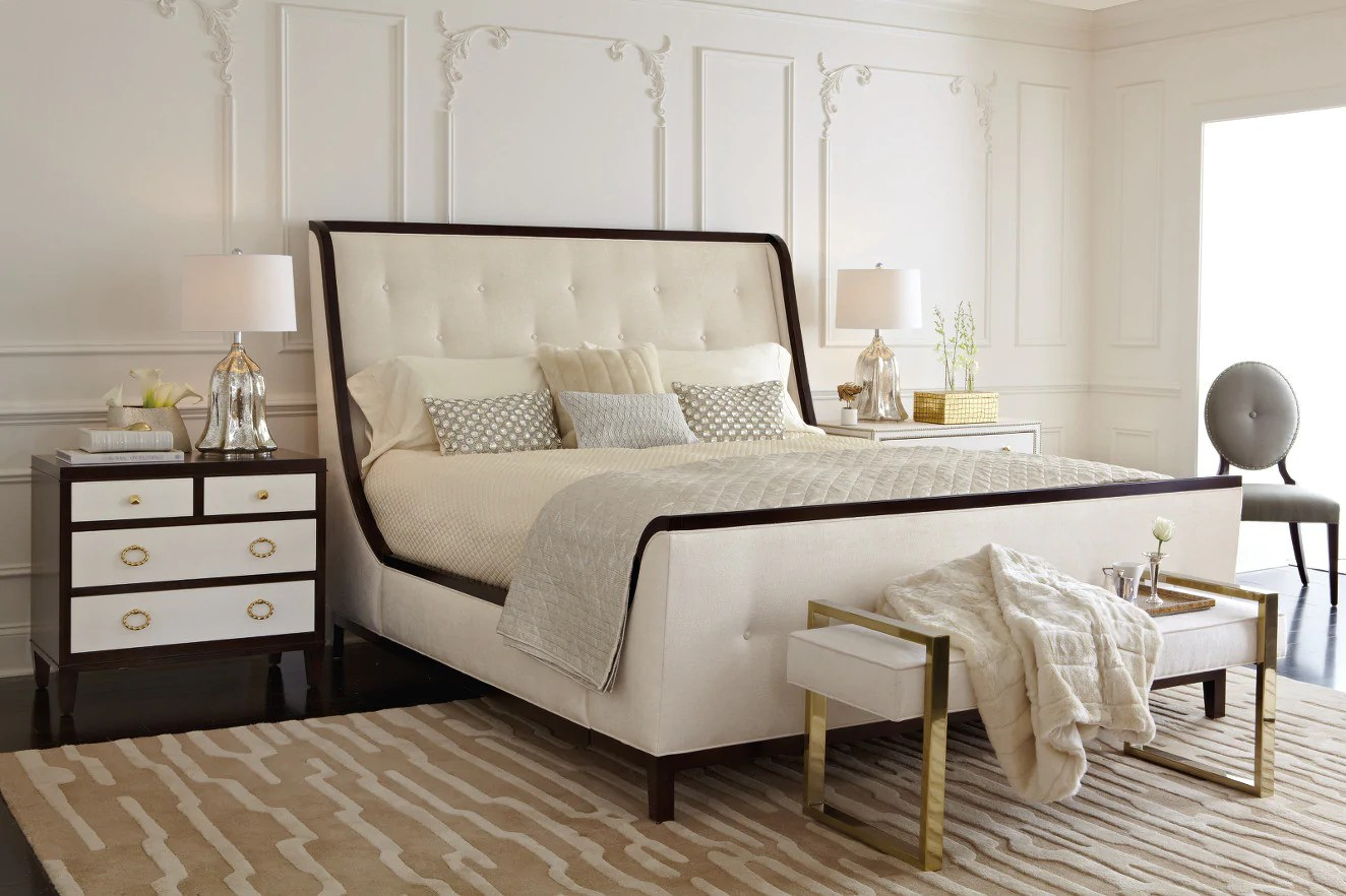 Domayne Beds Catalogue Jet Set Upholstered Queen Bed Bernhardt Furniture Luxe