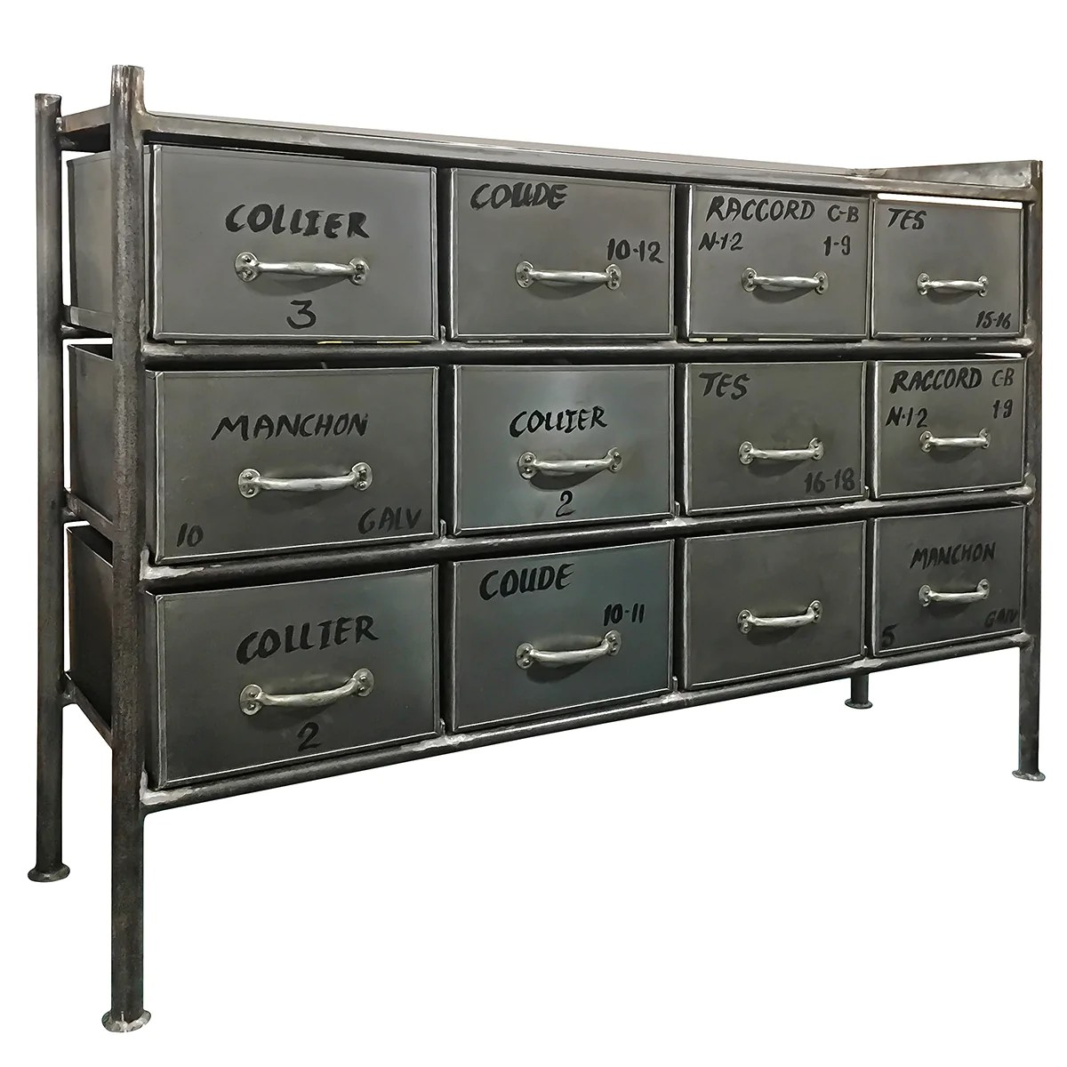 12 Drawer Chest Of Drawers Iron 12 Drawer Chest Natural Gray