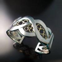 Modern Wide Cuff Bracelet - Zoran Designs Jewelry