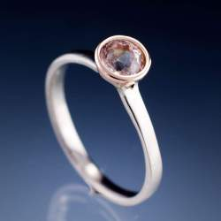 Small Of Morganite Rose Gold Ring