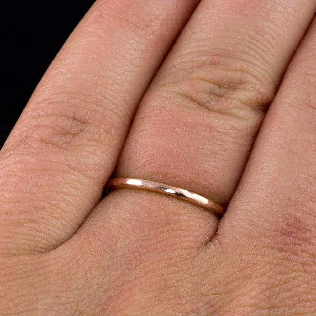 thin rose gold ring thin wedding bands Thin Gold Wedding Band 18K Gold Ring Thin Wedding Ring Flat Gold Band 18K Gold Spacer Ring YOUR Choice of Gold Color 18K Rose Gold