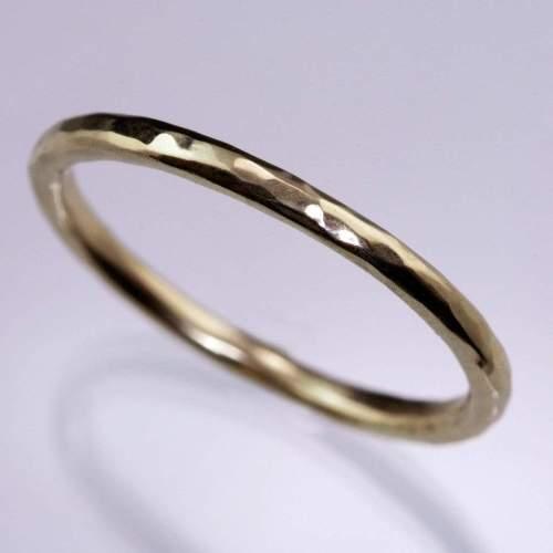 hammered texture bead set diamond thin wedding ring thin wedding bands Hammered Texture Bead Set Diamond Thin Wedding Ring by Nodeform