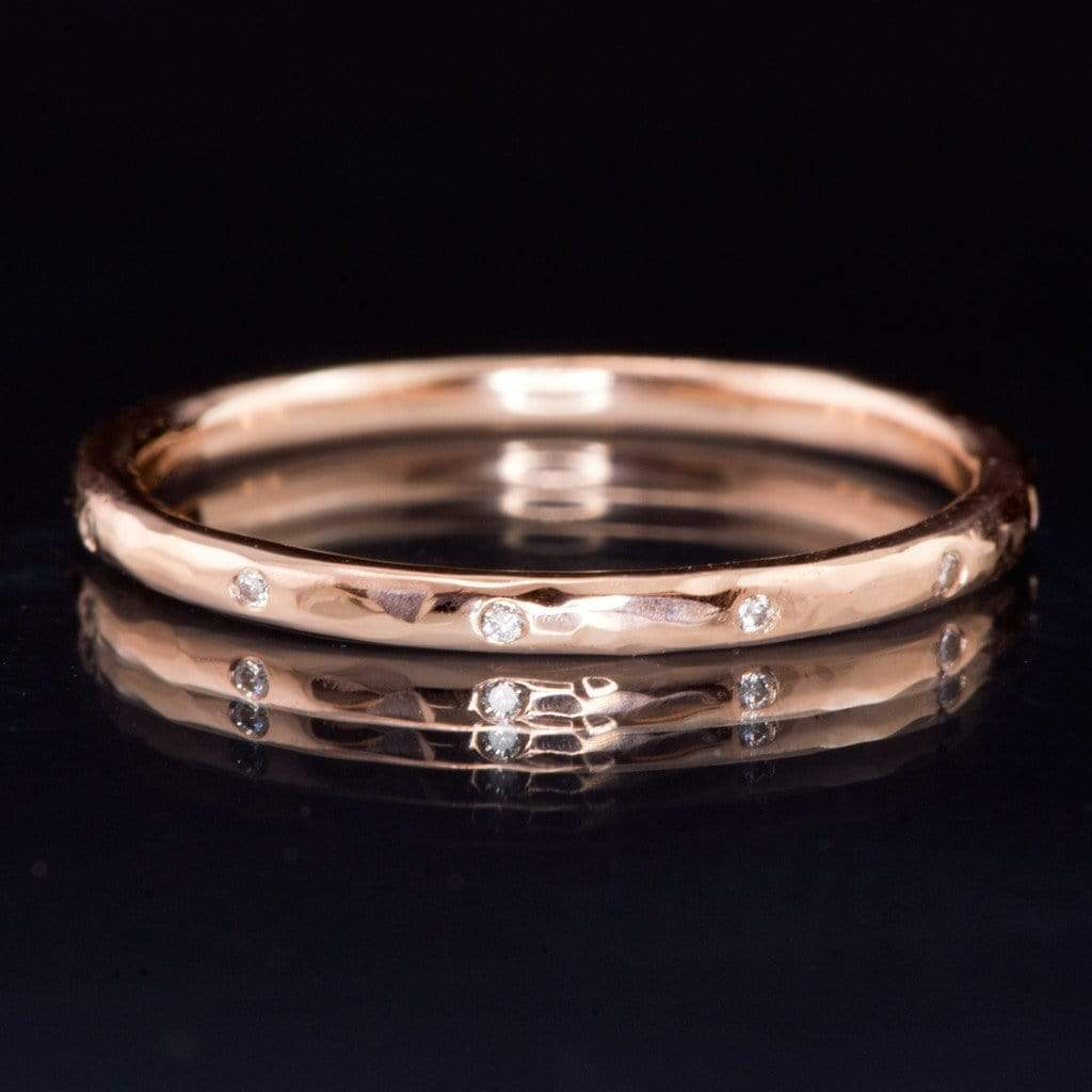 unique wedding bands for thin halo settings thin wedding bands I have something similar and yes I do like how it looks but it does bother me how my halo covers the beautiful design of my wedding band