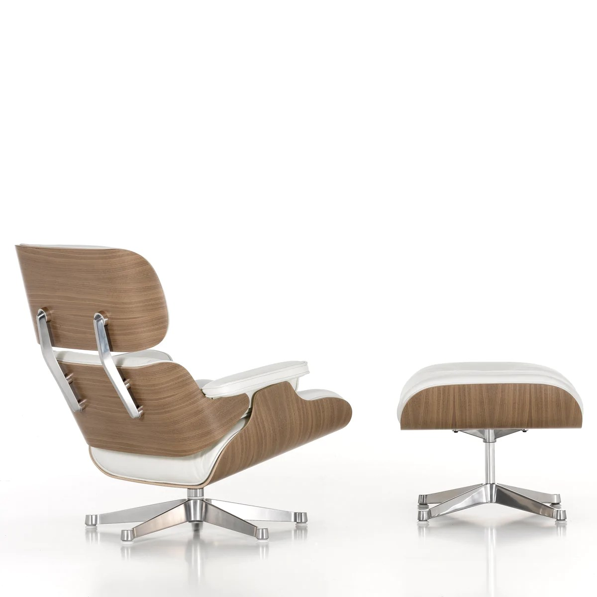 Eames Lounge Sessel Eames Lounge Chair Ottoman White Edition