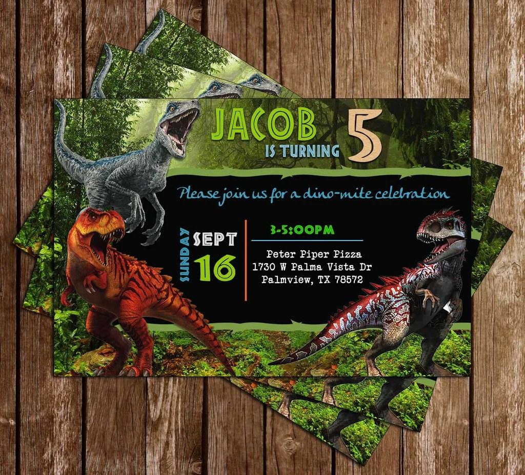 jurassic park invitations